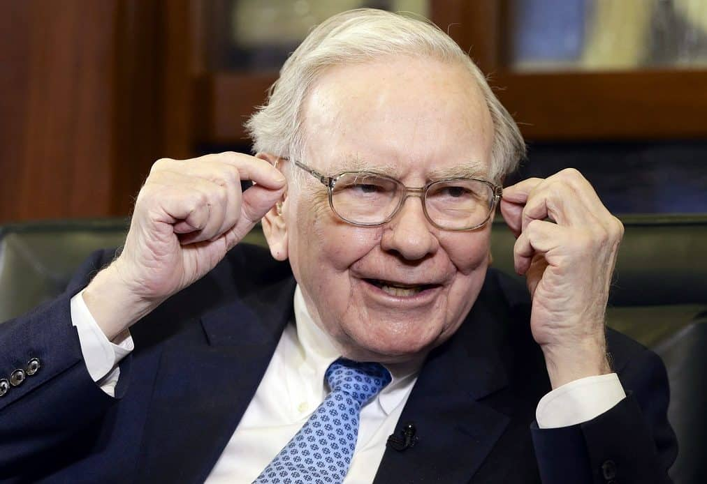 Warren Buffett Has held his glasses