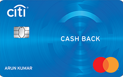 best credit card in India 2020 - Citibank Cashback Credit Card